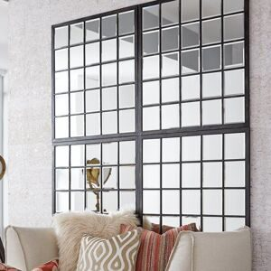 Rectangle+Antique+Black+Window+Mirror