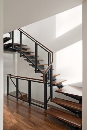interior-inspiration-regal-glass-banister-stairs-with-black-iron-frame-as-inspiring-modern-staircase-with-wooden-step-foot-also-white-wall-painted-color-interior-schemes-glorious-modern-staircase-ass