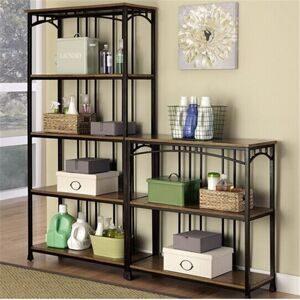 American-Iron-IKEA-wood-clapboard-wall-shelf-bookcase-bookshelf-Creative-steel-landing-rack-shelf