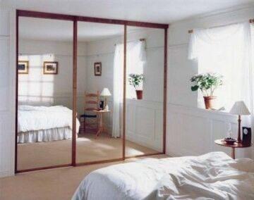 Двери зеркальные раздвижные10